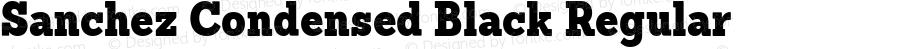 Sanchez Condensed Black Regular Version 1.000 webfont subset