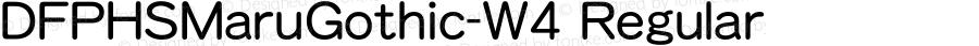 DFPHSMaruGothic-W4 Regular 1 Apr, 1997: Version 2.10