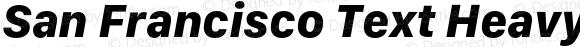 San Francisco Text Heavy Italic