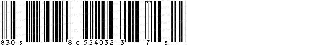 IDAutomationSUPCEANM Demo Regular