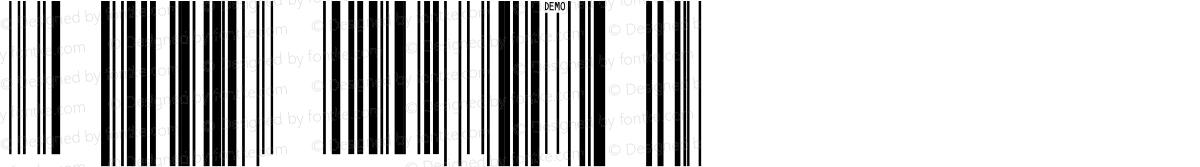 IDAutomationSUPCEANMn Demo Regular
