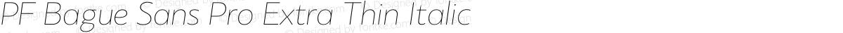 PF Bague Sans Pro Extra Thin Italic