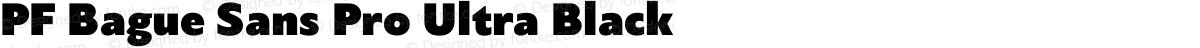 PF Bague Sans Pro Ultra Black