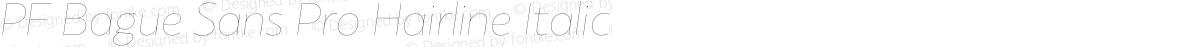 PF Bague Sans Pro Hairline Italic