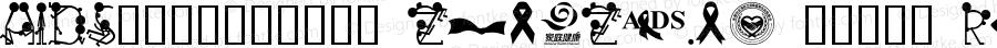 AIDS预防爱滋公益标志字体 zhaozi.cn 找字网制作 Regular v1.0 2014/11/30 www.zhaozi.cn 设计制作,更多字体请访问 找字网!