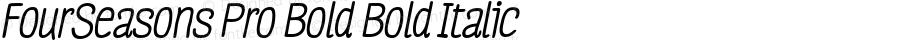 FourSeasons Pro Bold Bold Italic 1.000