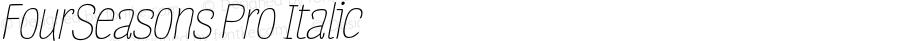 FourSeasons Pro Italic 1.000