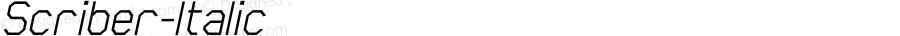 Scriber-Italic ☞ Version 1.000;com.myfonts.easy.northernblock.scriber.italic.wfkit2.version.3kFr