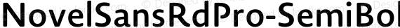 NovelSansRdPro-SemiBold ☞ preview image