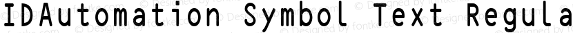 IDAutomation Symbol Text Regular Preview Image