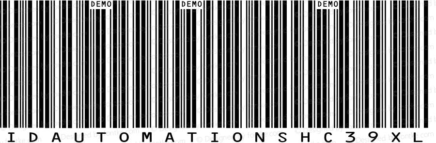 IDAutomationSHC39XL Demo Regular IDAutomation.com 2014