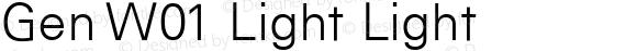Gen W01 Light Light