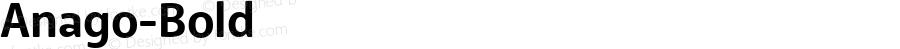 Anago-Bold ☞ Version 2.000;com.myfonts.easy.positype.anago.bold.wfkit2.version.3TKN
