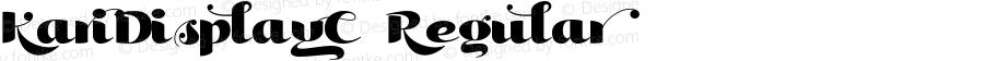 KariDisplayC-Regular ☞ Version 001.000;com.myfonts.easy.positype.kari-display.c.wfkit2.version.3iqG