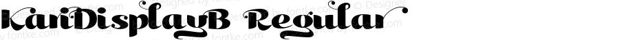 KariDisplayB-Regular ☞ Version 001.000;com.myfonts.easy.positype.kari-display.b.wfkit2.version.3iqL