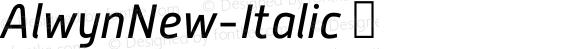 AlwynNew-Italic ☞ Version 5.000;com.myfonts.moretype.alwyn-new.italic.wfkit2.3ugF