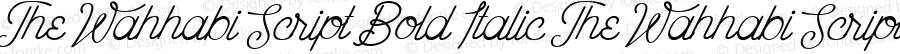 The Wahhabi Script Bold Italic The Wahhabi Script Bold Italic 1.000