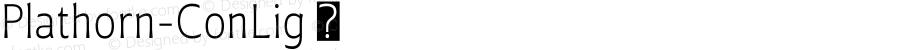 Plathorn-ConLig ☞ Version 1.000;com.myfonts.easy.insigne.plathorn.condensed-light.wfkit2.version.4e3L