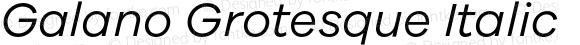 Galano Grotesque Italic