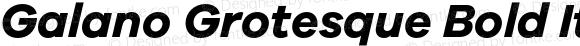 Galano Grotesque Bold Italic