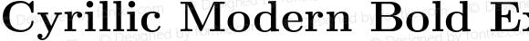 Cyrillic Modern Bold Extended