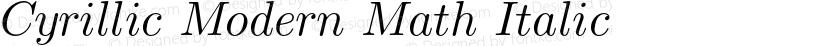 Cyrillic Modern Math Italic Preview Image