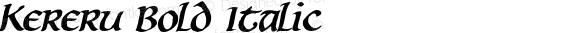 Kereru Bold Italic
