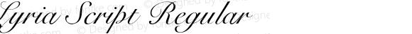 Lyria Script Regular Version 1.000