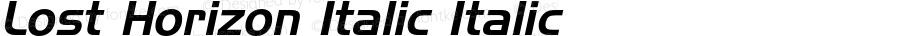 Lost Horizon Italic Italic Version 1.000