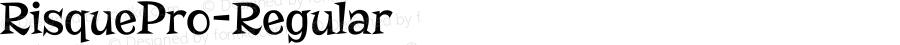 RisquePro-Regular ☞ Version 1.001;com.myfonts.easy.stiggy-sands.risque-pro.regular.wfkit2.version.3Xqc