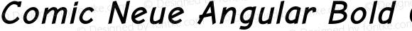 Comic Neue Angular Bold Oblique