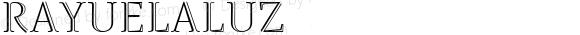 RayuelaLuz ☞ Version 2.000;com.myfonts.easy.pampatype.rayuela.luz.wfkit2.version.2YiR