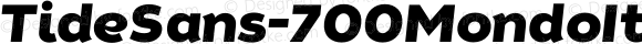 TideSans-700MondoItalic ☞ Version 1.000;PS 005.000;hotconv 1.0.70;makeotf.lib2.5.58329;com.myfonts.easy.kyle-wayne-benson.tide-sans.mondo-italic.wfkit2.version.44Ut