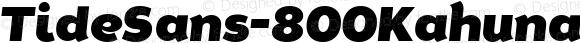 TideSans-800KahunaItalic ☞ Version 1.000;PS 005.000;hotconv 1.0.70;makeotf.lib2.5.58329;com.myfonts.easy.kyle-wayne-benson.tide-sans.kahuna-italic.wfkit2.version.44Uu