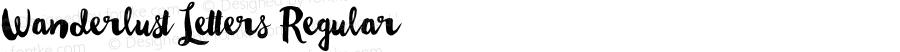 Wanderlust Letters Regular Version 1.00 2015