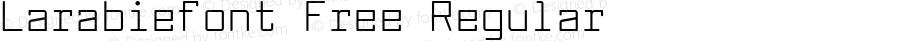 Larabiefont Free Regular Version 2.200 2004