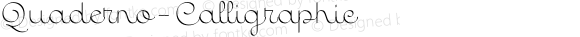 Quaderno-Calligraphic ☞