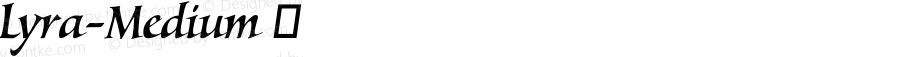 Lyra-Medium ☞ Version 1.000;com.myfonts.easy.canadatype.lyra.medium.wfkit2.version.4m8L