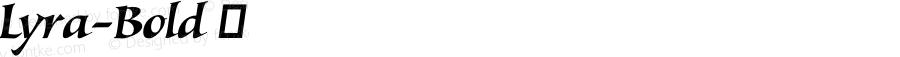 Lyra-Bold ☞ Version 1.000;com.myfonts.easy.canadatype.lyra.bold.wfkit2.version.4m8J