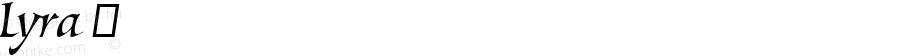 Lyra ☞ Version 1.000;com.myfonts.easy.canadatype.lyra.regular.wfkit2.version.4m8K