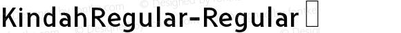 KindahRegular-Regular ☞