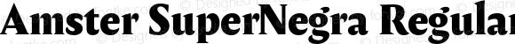 Amster SuperNegra Regular Version 1.000;PS 001.000;hotconv 1.0.70;makeotf.lib2.5.58329;com.myfonts.easy.pampatype.amster.super-negra.wfkit2.version.4mdK