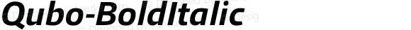 Qubo-BoldItalic ☞