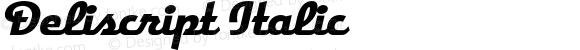 Deliscript Italic