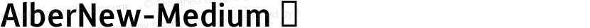AlberNew-Medium ☞ Preview Image