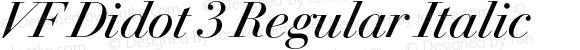 VF Didot 3 Regular Italic