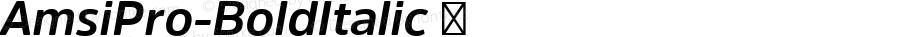 AmsiPro-BoldItalic ☞ Version 1.40;com.myfonts.easy.stawix.amsi-pro.bold-italic.wfkit2.version.4m4Z
