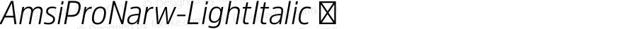 AmsiProNarw-LightItalic ☞ Version 1.40;com.myfonts.easy.stawix.amsi-pro.narrow-light-italic.wfkit2.version.4m5p