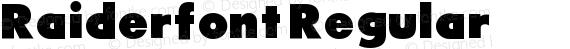 Raiderfont Regular preview image