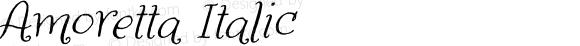 Amoretta Italic Version 1.000;PS 001.000;hotconv 1.0.70;makeotf.lib2.5.58329;com.myfonts.easy.tart-workshop.amoretta.italic.wfkit2.version.4jJt